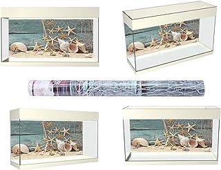 S/M/L Fish Tank Backdrop, 3D Effect Terrarium Background Poster, Waterproof for Fish Tank Home Use Aquarium(61 * 41cm)