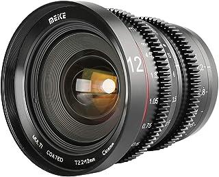 Meike 12 mm T 2.2大口径マニュアル映画シネマレンズマイクロアングル広角低歪みミニ固定プライムレンズレンズ 互換性用の マイクロフォーサーズ オリンパス/パナソニックLUMIX およびBMPCC 4K Zcam E2