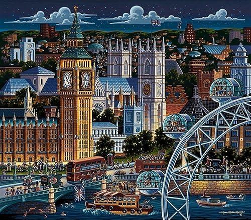 Jigsaw Puzzle - London 500 Pc By Dowdle Folk Art by Dowdle Folk Art