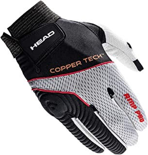 HEAD Leather Racquetball Glove - AMP Pro Copper Tech Glove for Right & Left Hand