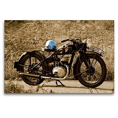 Premium Textil-Leinwand 120 x 80 cm Quer-Format Zündapp DB 200 | Wandbild, HD-Bild auf Keilrahmen, Fertigbild auf hochwertigem Vlies, Leinwanddruck von Ingo Laue