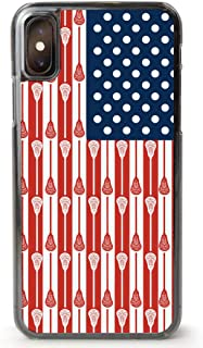 Guys Lacrosse iPhone 7/8 Case   USA Lacrosse Sticks Flag