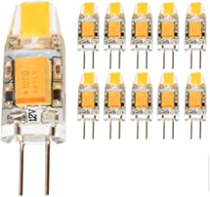 mengjay® 10 stuks G4 1,5 W LED-lampen, 130 lm, 1,5 W vervangt 10 W halogeenlampen, warm wit (2900 K), 12 V AC/DC, G4 LED-l...