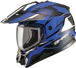 GMAX Unisex-Adult Full-face-Helmet-Style G2111213 TC-2 Gm11 Snow Vertical Black/Blue xs X-Small