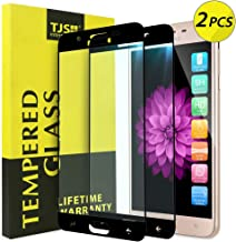 [2-Pack] TJS for Samsung Galaxy J7 2018/J7 Refine/J7 Star/J7 Eon/J7 TOP/J7 Aero/J7 Crown/J7 Aura/J7 V 2nd Gen [Full Screen Coverage][Tempered Glass] Screen Protector Lifetime Replacement Warranty