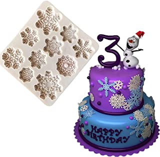 BUSOHA Snowflake Mold - 3D Christmas Snowflake Silicone Fondant Mold for Cupcake Topper Ice Trays Polymer Clay Chocolate Candy Cake Baking Decoration