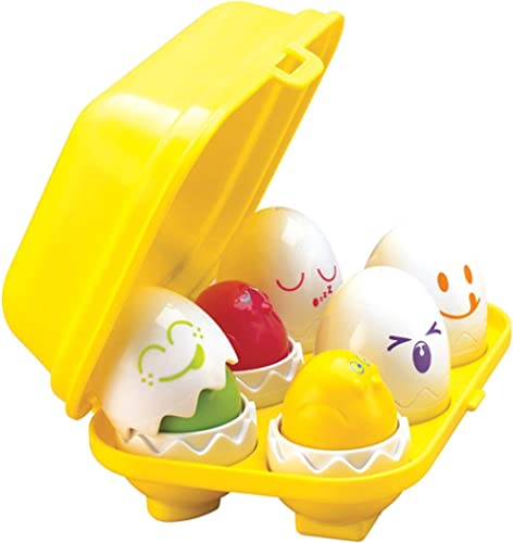 TOMY E1581 Hide & Squeak Eggs, yellow red green blue orange purple