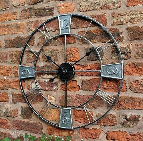 HH Home Hut GARDEN WALL CLOCK RO...