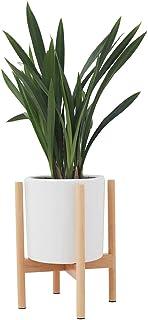 comprar comparacion JYCRA Soporte para Plantas, soporte para macetas de flores de madera de mediados de siglo, estante para estante en maceta,...
