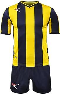 cbc8d9f67b9a3a LEGEA Kit BELGRADO Gold Calcio Calcetto Completino Completo Maglietta E  Pantaloncino Sport TORNEO