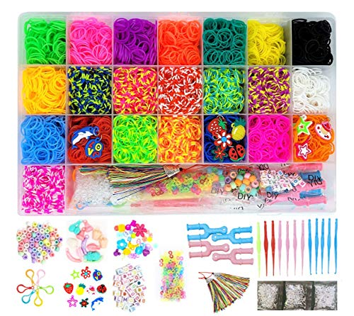 Epink Loom Rubber Band Refill Loom Bands Craft Kit, Premium Loom Rubber Bands Kit for Loom Bracelet Maker & Bracelet Making Kit, Bracelet Rubber Bands Gift for Girls and Boys