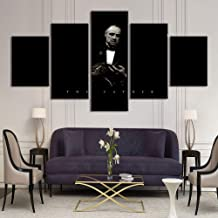 5 Piece The Godfather Paintings Home Decor Canvas Pictures Framework HD Prints Poster Modular Home Decoration Wall Art,A,20×30×2+20×40x2+20x50×1