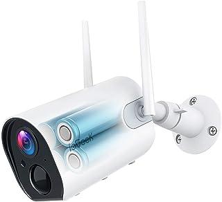 ieGeek Telecamera Wi-Fi Interno/Esterno Senza Fili con 10400mAh Batteria, FHD 1080P Videocamera di Sorveglianza, Rilevazione PIR, Audio Bidirezionale, Visione Notturna, Compatibile con Scheda SD/Cloud