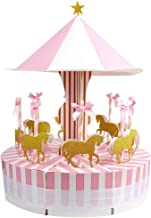 Aytai Carousel Baby Shower Candy Favor Boxes Unicorn Party Supplies Candy Bag Gift Box Table Centerpiece for Wedding Birthday Decorations (Pink)