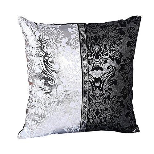 WeiMay. Funda de cojín de 45 x 45 cm, de algodón y Lino, Suave, Color Negro y Blanco, Estampado, Funda de cojín Decorativa para sofá, Funda de cojín, Funda para sofá, Dormitorio, Coche
