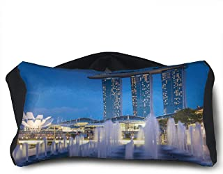 SUNNMOON The Fullerton Hotel Singapore Neck Travel Pillow Support Scarf Voyage for Airplane Eye Mask, Travel Pillow and Eye Mask Washable Pillows