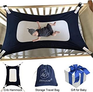 Baby Hammock for Crib Mimics Womb Newborn Bassinet Reduce Environmental Risk Associated with Early Infancy Baby Shower Gifts (Dark Blue)