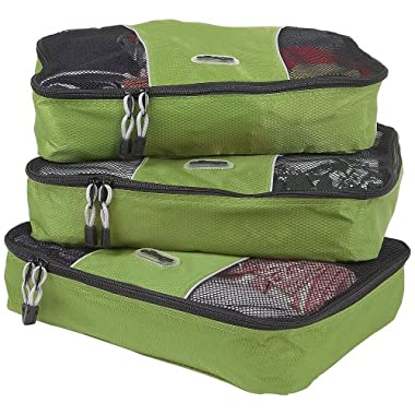 eBags Medium Packing Cubes - 3pc Set (Grasshopper)