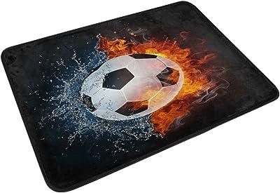 Close Soccer In Fire Floor Mat Modern Carpet Area Rug Indoor and Outdoor Door Mat Home Décor: Amazon.es: Hogar