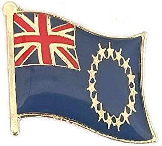 Cook Islands National Flag International Travel Small Pins Enamel Made Metal Souvenir for Hat Clothes Backpack