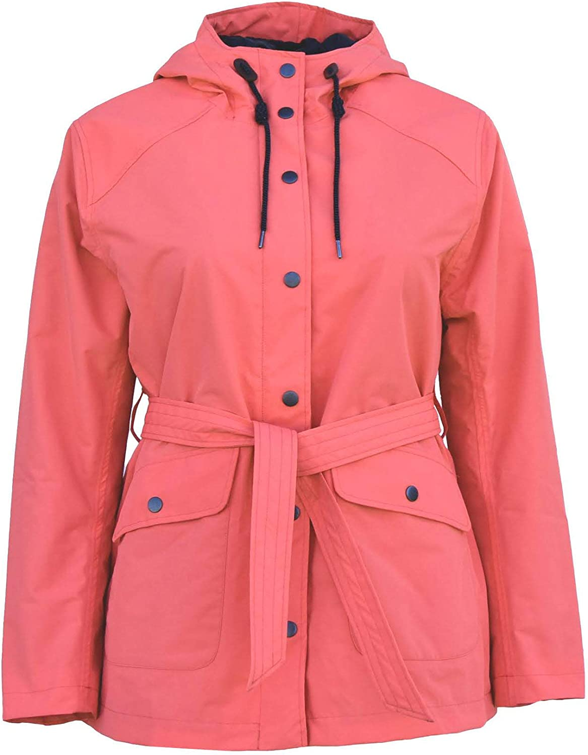 Snow Country Outerwear Women's Plus Size Short Trench Rain Jacket Coat