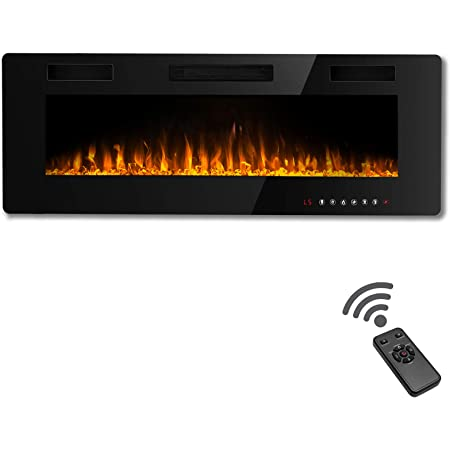 60 INCH LED /'DIGITAL FLAMES/' WHITE BLACK INSERT WALL MOUNTED ELECTRIC FIRE 2020