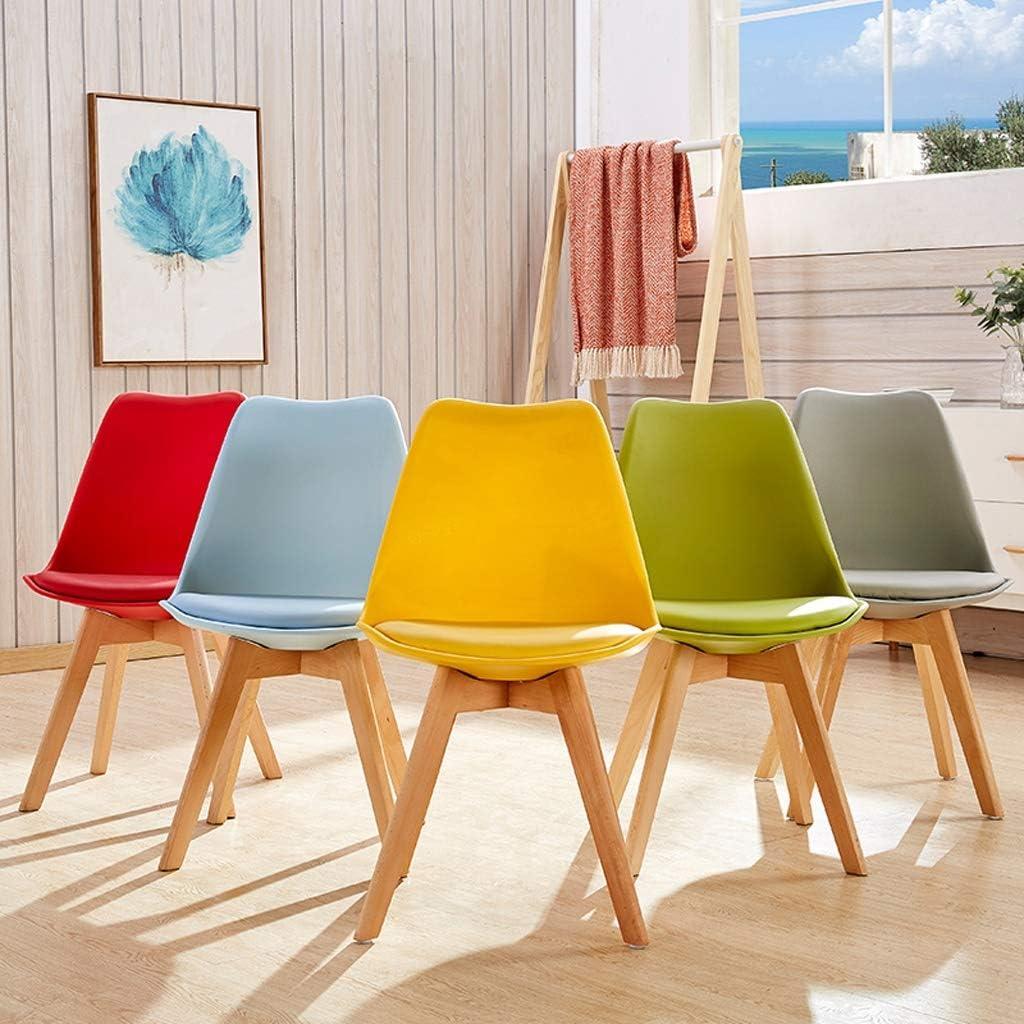 XXT Chaise de salle, Chaise de bureau simple, créative Dossier, Chaise Loisirs, Maison adulte Chaise de salle Durable (Color : Black) Green