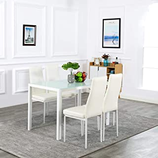 Bonnlo 5 Pieces Dining Table Set Kitchen Dining Room...