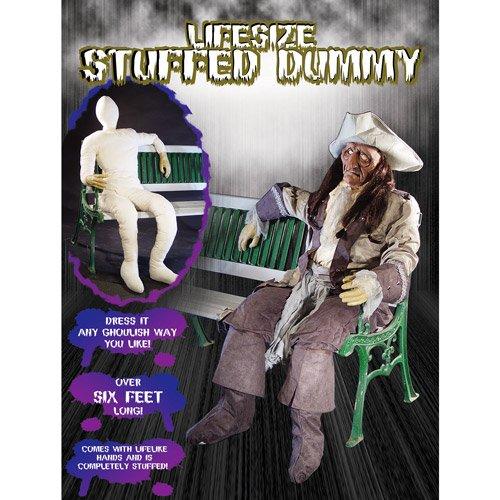 Lebensgroße Dummy Puppe mit Drahtgestell in Genick und Armen für posing ideal für Party Dekorationen Events Halloween Horror Großfiguren ausgestopft mit realistsichen Armen anatomisch menschlich geformt