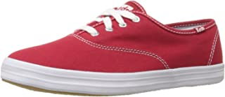 Keds womens Champion Canvas Sneaker, Red, 6.5 Wide US