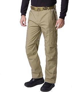 FREE SOLDIER de Hombre Casual Cuatro Temporada Multi Bolsillos Cargo Pantalones de Senderismo Pantalones de Caza