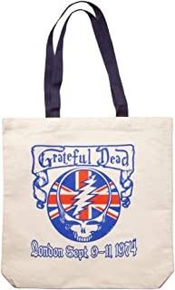 Grateful Dead British Steal Your Face London 1974 Tote Bag
