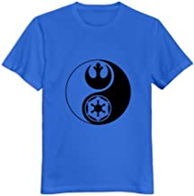 StaBe Men Star Wars Yin Yang T-Shirt Short Sleeve Vintage M RoyalBlue