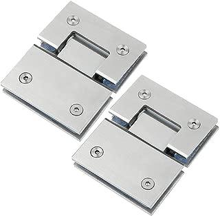 2 Pack 180° Degrees Thickened Glass Door Hinge 304 Stainless Steel Door Clamp Shower Room Hinge Bathroom Hardware Accessories