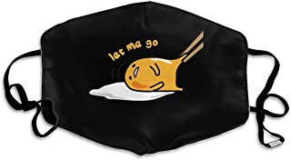 Hakalala Anti Dust Face Mask, Japan Gudetama Lazy Egg Breathable Mouth Cover Masks for Women Men