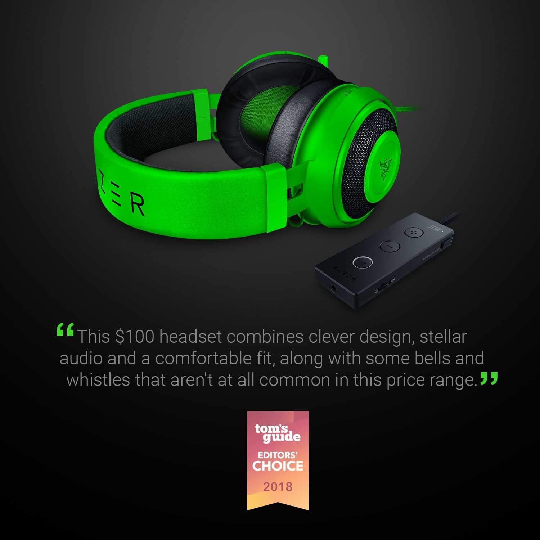 Razer Kraken Tournament Edition - Black Wired Gaming Headset with USB Audio Controller 13