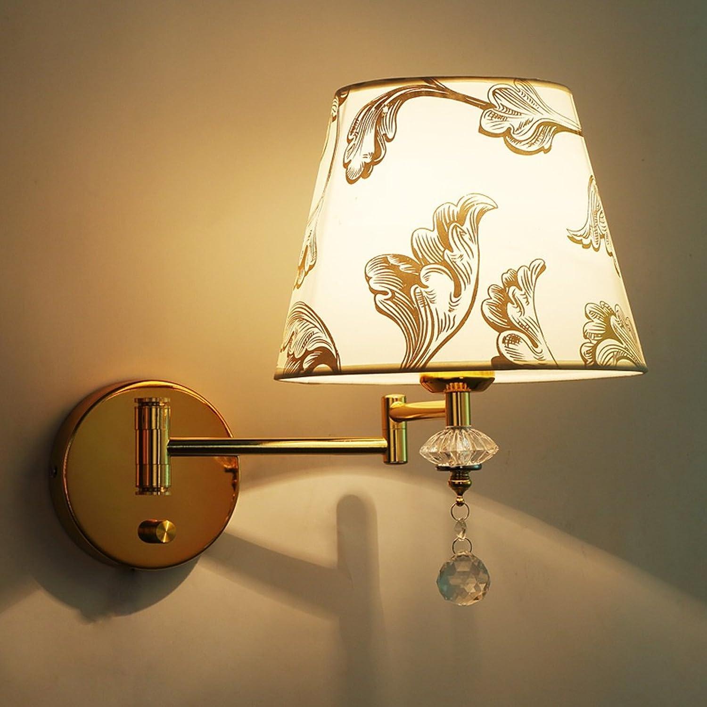 Unbekannt SKC Lighting-Wandlampe Modern Simplicity Rocker Arm Wandleuchte Bedside Hotel Schlafzimmer Wohnzimmer mit Schalter Wandleuchte (Farbe   Dimmable, gre   Einzelkopf)