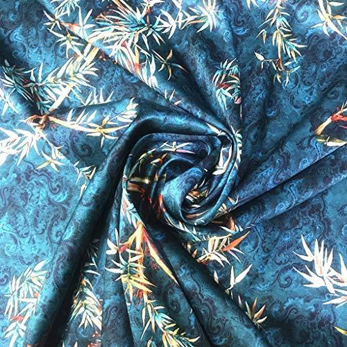 AIOEJP Zijdeachtige satijnen stof, pure zijde Mulberry zijde jurk stof voor zijdeschildering 108 cm breed bruiloft baljurken decoraties