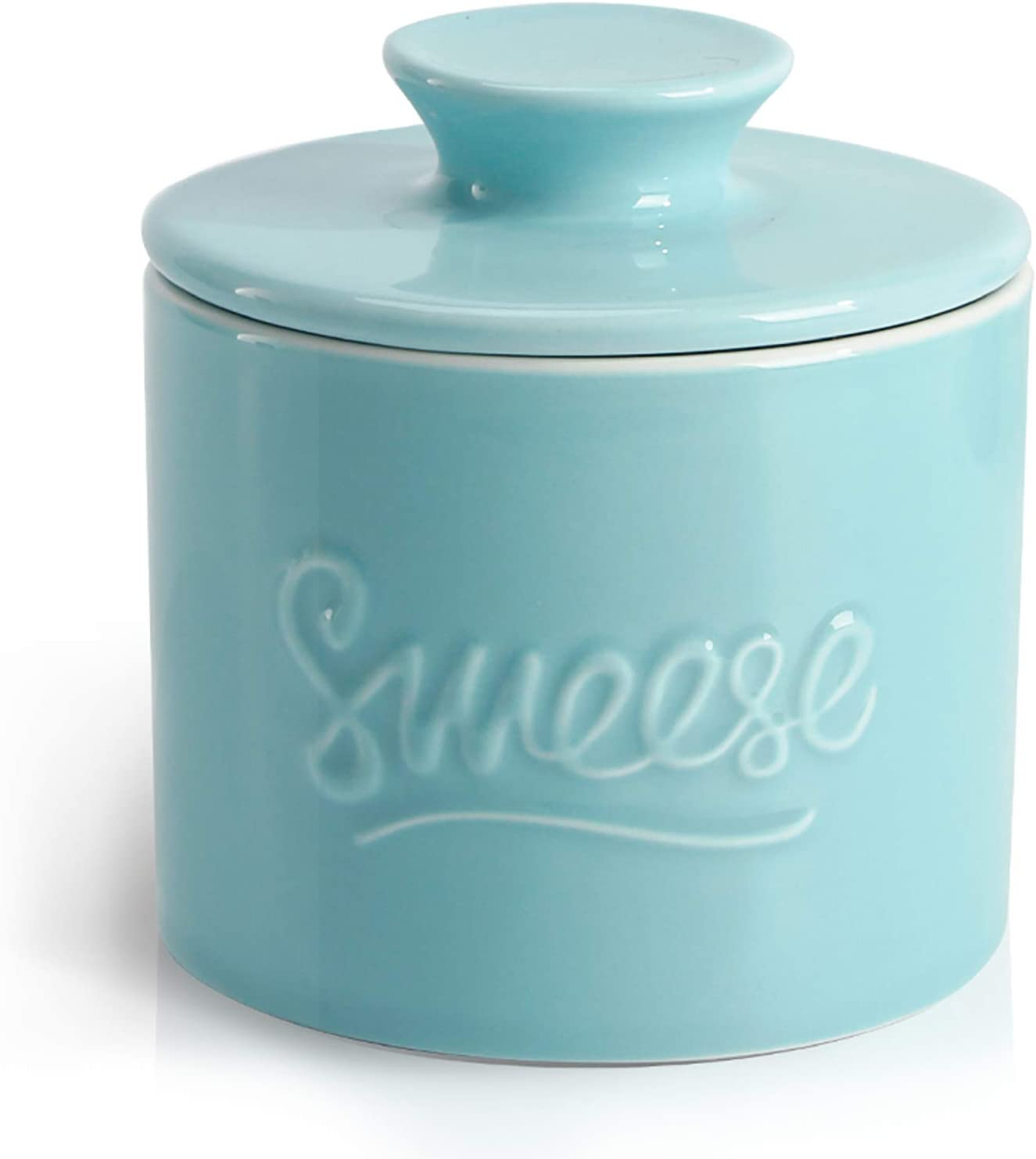 Red Sweese 304.104 Porcelain Butter Keeper Crock No More Hard Butter French Butter Dish Perfect Spreadable Consistency