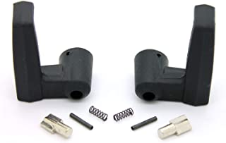 LATCHWELL New PRO-4001322 Black Vent Window Handle Lock Latch RH & LH - Driver & Passenger Side Compatible with 1980-1996 Truck Pickup Bronco F150 F250