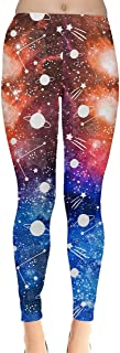 Womens Animal Unicorn Cats Fancy Outer Space Galaxy Wonderland Castle Stretchy Leggings, XS-5XL