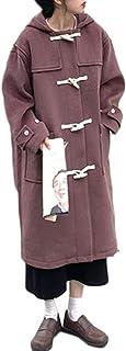 白菜パンツブロー[チューカー ] レディース 厚手 ロング丈 ダッフルコート カジュアル 暖かい 秋 冬 カジュアル おしゃれ 長袖 コート