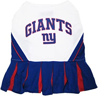 Pets First New York Giants NFL Team Pet Dog Cheerleader Sports Outfit - Extra Small