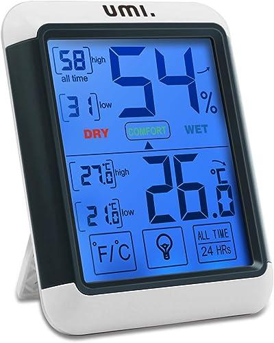 Umi. Essentials - Higrómetro Digital Termómetro Interior Medidor de Temperatura y Humedad Ambiente con Retroiluminaci...