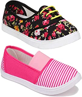 Shoefly Women Multicolour Latest Collection Sneakers Shoes- Pack of 2 (Combo-(2)-11023-611)