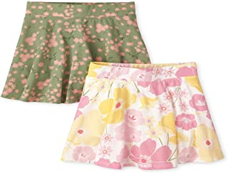 The Children's Place girls Printed Skorts, Pack of Two Shorts