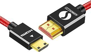 linkinperk Cable Mini HDMI 1.4a/ 2.0 (Tipo C) a HDMI (Tipo A) | Chapado en Oro (Alta Velocidad) Real 3D y Ethernet Capacidad | Apto para Full HD/HD Ready/3d | 1080 P | 2160 P (1M)