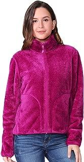 Women Full Zip Fleece Jacket Reversible Soft Warm Polar...