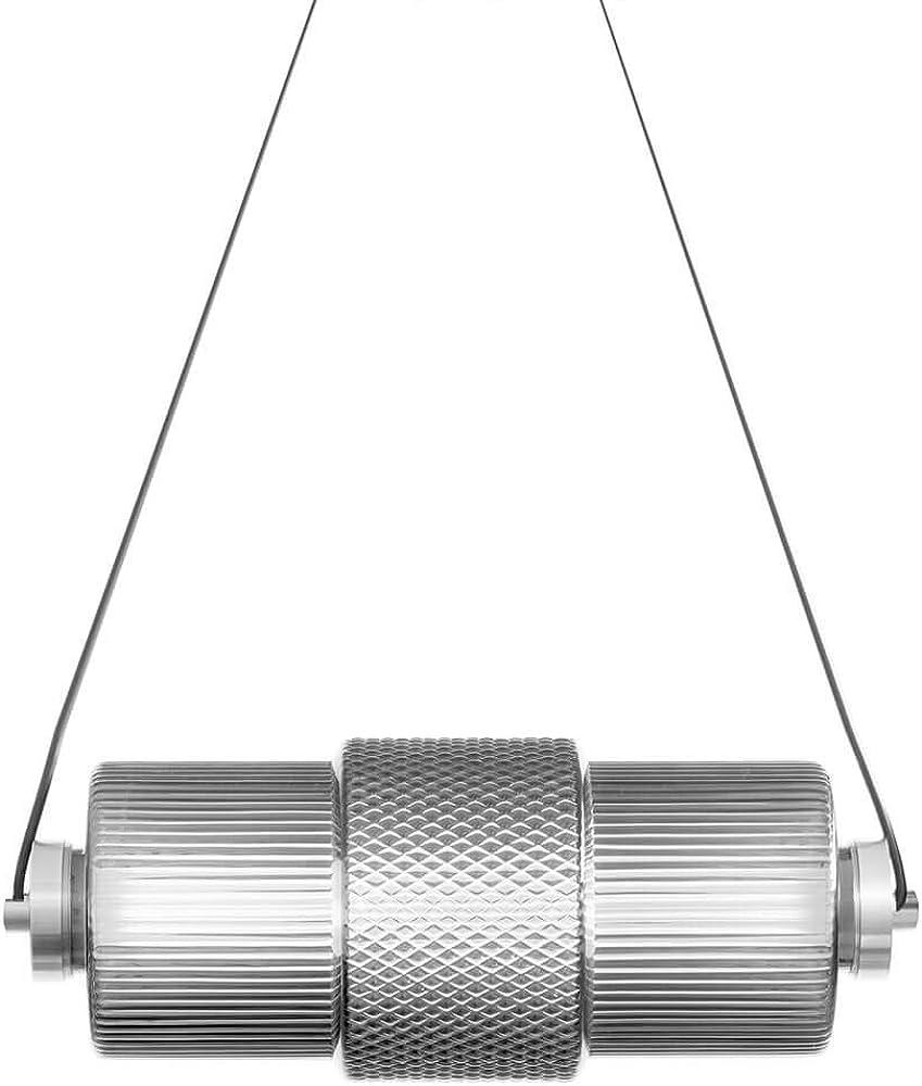 Karman dies ,lampada a sospensione, strip led dimmerabile,in vetro SE1241T INT