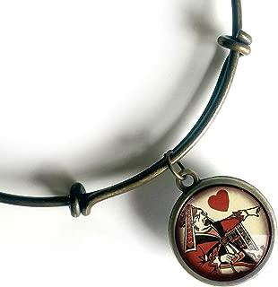 Alice in Wonderland Red Queen Adjustable Charm Bracelet